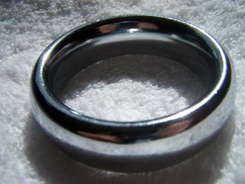 CHROME WIDE DONUT COCK RING  COCKRING