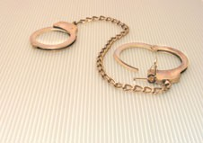 Leg Cuffs - regulation style double lock with chain